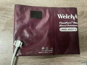 Welch Allyn Flexiport Reusable Large Adult 12 Blood Pressure Nibp Cuff Reuse 12
