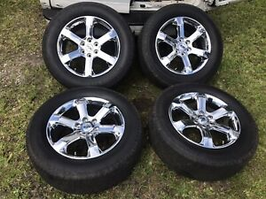 20 Ford F150 Oem Factory Chrome Pvd Wheels Expedition 2021 Lariat Tires