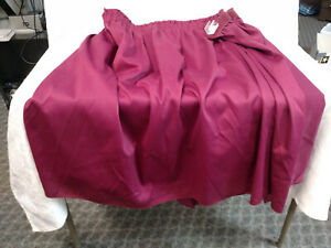 100 Polyester Burgundy Table Skirting W Clips 29 Tall X 13 Feet Long
