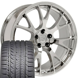 22x10 Wheel Amp Tire Fit Dodge Ram Truck Hellcat Style Chrome Rim Withgy Tire Cp