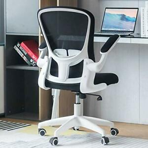 Office Chair Ergonomic Desk Chair Computer Task Mesh Chair With Flip up White