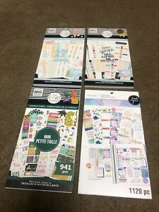 Lot Of 4 3 Mambi Happy Planner Sticker Books 1 Recollections Brand New 2020