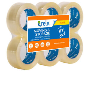 Rela Moving Storage Premium Clear Packaging Tape 2 X 110 Yards 6 pack