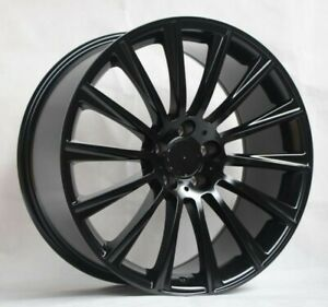 20 S63 Amg Style Gloss Black Wheels Rims Fits Mercedes Benz Cls500 Cls550 S63