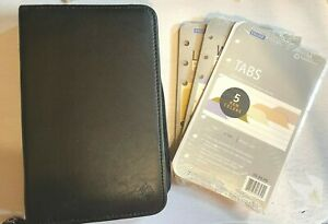 Franklin Covey Planner Binder Zip Up Black 6 Rings Classic Office Organizer