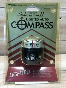Sherrill Airway Lighted Auto Compass 592l Unopened In Original Damaged Package