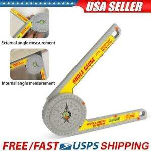 Miter Saw Protractor Rustproof Angle Finder Meter Scale Angle Ruler Measure Tool