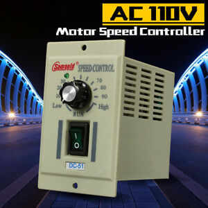 Ac 110v Phase Motor Speed Controller Adjustable Unit Variable For Dc 5