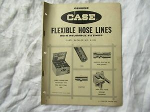 1964 J i Case Tractor Hose Fittings Adapter Power Steering Kits Parts Catalog
