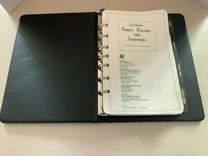 Day Timers Family Record Inventory Financial Organizer Vtg New Unused