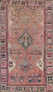 Antique Vegetable Dye Lori Tribal Area Rug Hand Knotted Traditional 5 X9 Carpet