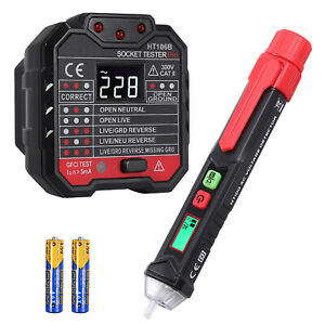 Electrical Test Kit Set With Non contact Ac Voltage Tester Pen Socket Tester