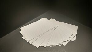 3 X 5 Individual Index Cards Lot Of 20