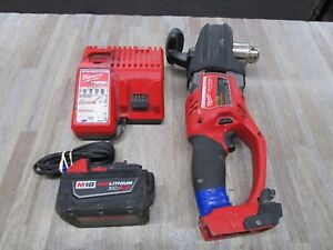 Milwaukee 2707 20 M18 Fuel Hole Hawg 1 2 Right Angle Drill W battery Charger