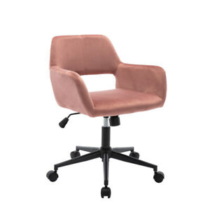 Home Office Chair Height adjustable Black Finished Steel Base Pink