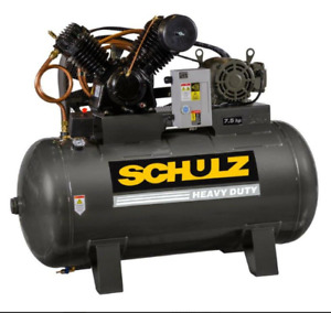 Schulz 7580hv30x 1 7 5 hp 80 gallon Two stage Air Compressor 932 9347 0