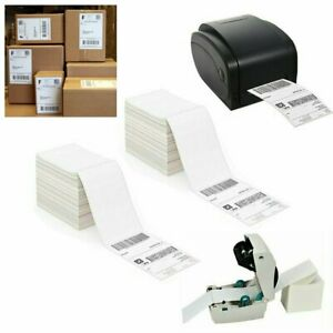 Fanfold 4 X 6 Direct Thermal Labels Shipping Mail Postage Label For Zebra 2844