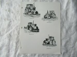 1990 Ford New Holland 8030 Tractor Radio Commercial Script Brochure