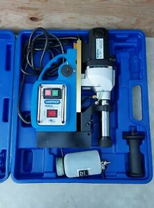 Champion Minibrute Ac35 Magnetic Drill Press With Case mint Condition