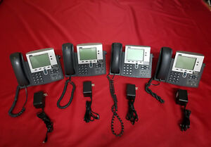 Lot Of 4 Cisco 7940 Ip Voip Phones Cp 7940 Cp7940 Cp 7940g