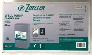 New Zoeller 1hp 230v Well Pump Control Box 1010 2338 Submersible Potable Water