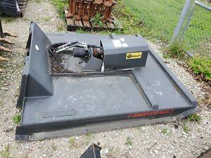 Used 60 Inch Standard Cid Brush Cutter Skid steer Attachment