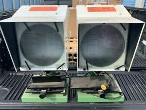 2x Je Baty Co Sx 765 10 Bench Type Optical Comparator Vertical Projector