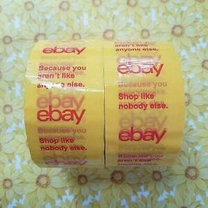 Ebay Branded Tape Shipping Mailing Packing 2 X 75 Ft Yellow 2 Rolls Discontinued