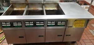 Pitco Gas Deep Fryer 3 Vat 150lbs Capacity Natural Gas Automatic Filter System