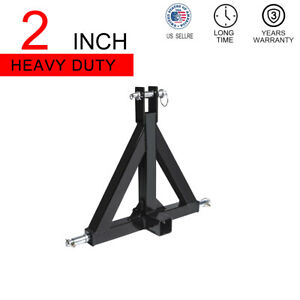 3 Point 2 Receiver Trailer Hitch Category One Tractor Tow Drawbar Adapter