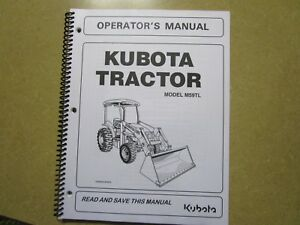 Kubota M59 Tl M 59 Tl Tractor And Loader Owners Maintenance Manual