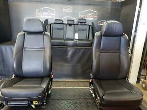 2008 Bmw X5 Set Of Front Power Rear Seats Black Leather