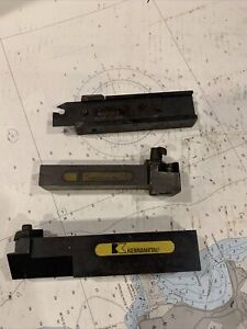 Kennametal Insert Tool Holder Lot Of Holders 2 With One Parting Tool