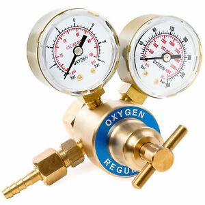 New Replacement Oxygen Regulator For Victor Style Welding Kits Cga540 Fitting