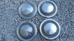 Four Vintage 15 Oldsmobile Hubcaps Free Shipping