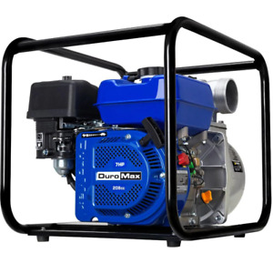 Duromax Water Pump 7 Hp Portable Self priming Gas Threaded male Cast iron