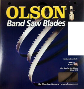 Olson Band Saw Blade 62 Long X 1 8 Wide 14 Tpi Use For Fine Finish Tight Cuts