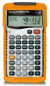 Calculated Construction Master Pro Calculator 4065 W hard Case Priority Mail