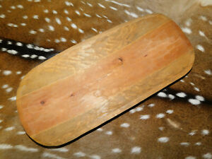 Carved Wooden Dough Bowl Primitive Wood Tray Trencher Baguette Decor 19 3 4