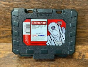 New Craftsman 11pc Standard 1 4 Drive Sae Socket Wrench Set In Hard Case