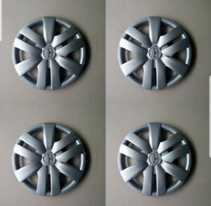 4 Piece Set 14 Inch Hubcap Silver Skin Rim Cover For Toyota Yaris Camry Corolla
