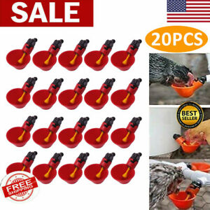 20pcs Automatic Watering Cups Poultry Drinker Waterer Chicken Duck Quail Pigeon