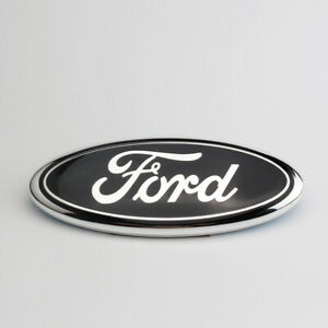 9 Inch For Ford F150 2005 2014 Front Grille Tailgate Oval Emblem Black Chrome