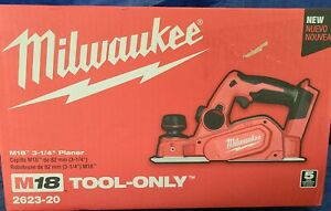 Milwaukee 2623 20 M18 3 1 4 In Cordless Planer bare Tool New In Factory Box