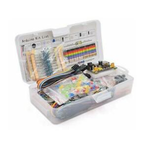 Electronic Component Starter Kit Wires Breadboard Led Buzzer Resistor Transi