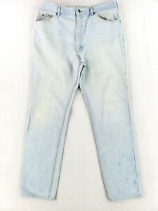 Vintage Lee 38x34 USA MADE Jeans Classic Denim Faded Wash 90s 80s Straight Leg $26.79