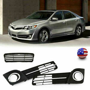 For Toyota Camry Se 2012 2014 Front Bumper Lower Grille Fog Lamp Cover Bezel Usa
