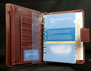 Franklin Covey Planning System Brown Leather Notebook Organizer