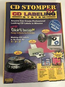 Cd Labeling System Cd Stomper Pro Brand New In Sealed Pack