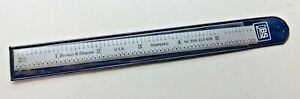 Brown Sharpe 6 Tempered Flex Steel Rule Scale No 599 323 605 Made In Usa